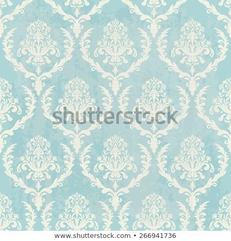 Kék régi tapéta kép művészet nyár szövet Stock fotó © magann