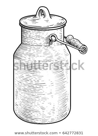 Old metal milk can Stock photo © 5xinc