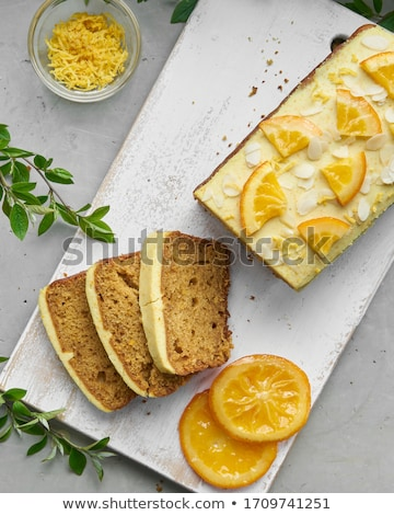 rebanada · limón · torta · postre · frescos · frambuesa - foto stock © M-studio
