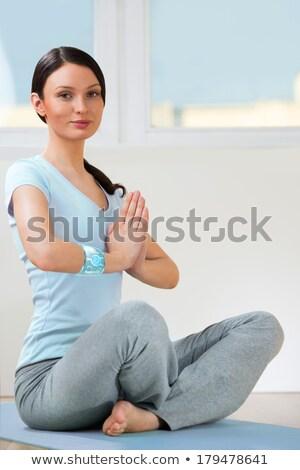 Stock fotó: Portré · modern · egészséges · jóga · nő · visel