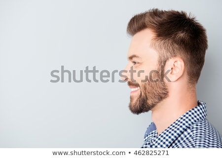 Smiling man in profile Stock photo © ichiosea