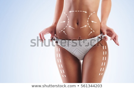 beautiful female body with the arrows stock photo © nobilior