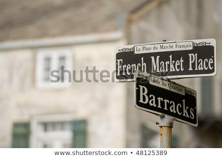 streetsign french market place in new orleans in french quarter stock photo © meinzahn