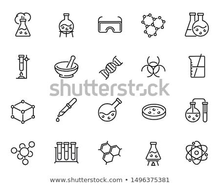Biotecnología iconos medicina médicos hoja tecnología Foto stock © Yuriy