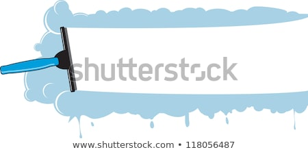 Illustration of window cleaning background with squeegee Stock photo © gladiolus