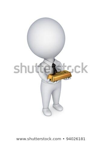 3D · klein · mensen · spaargeld · persoon · spaarvarken - stockfoto © anatolym