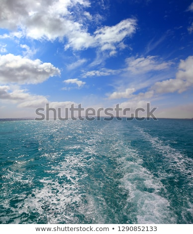 trace of ship   shooting from boat stock photo © mikko