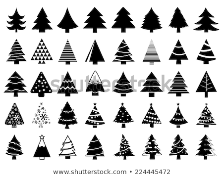 simple christmas tree designs vector vector illustration
