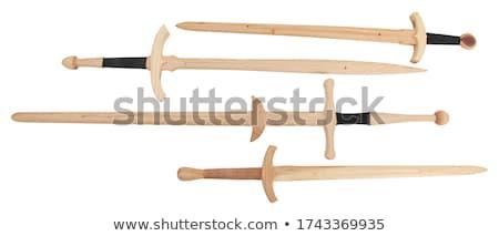 wooden sword - toy Stock photo © Marfot