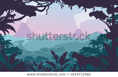 african exotic background with volcano stock photo © lordalea