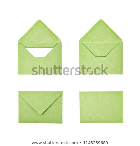 green envelope isolated on white background Stock photo © natika