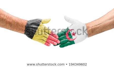 Stretta di mano Belgio Algeria mano riunione sport Foto d'archivio © Zerbor