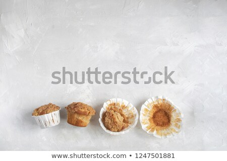 Half Eaten Cupcake Stock photo © vanessavr