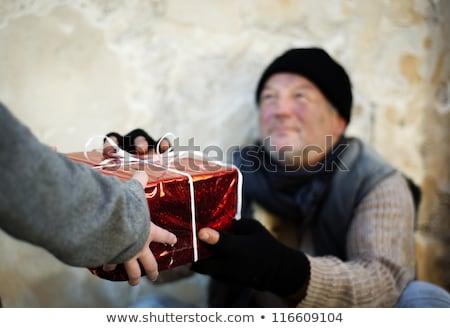 Pobre homem natal dom imagem isolado Foto stock © tiero