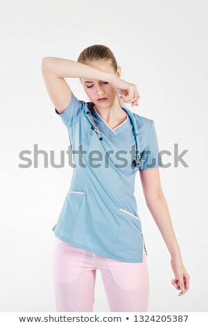 Stressed female doctor Stock photo © ichiosea