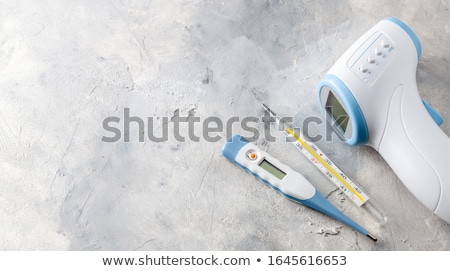 Сток-фото: Electronic Thermometers And Mercury