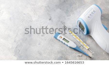 elektronische · thermometer · illustratie · witte · ontwerp · glas - stockfoto © mayboro1964