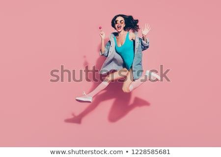 őrült nő talár vér kés fekete Stock fotó © 26kot
