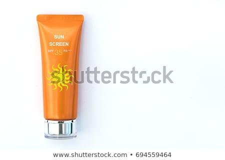 Protector solar botella amarillo plástico aislado negro Foto stock © stevanovicigor