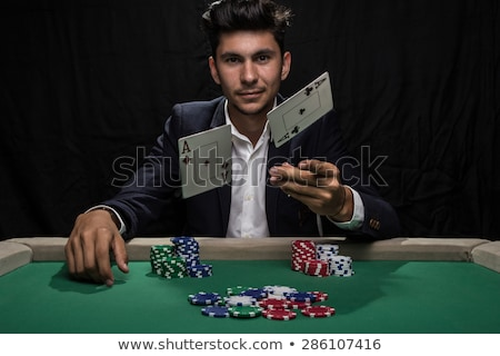 Stock photo: Poker Player Winning