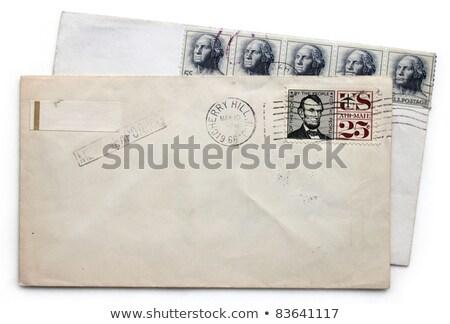 Correo aéreo sello aislado mail retro Foto stock © njnightsky