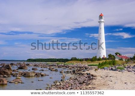 Világítótorony sziget Észtország szűrő retro klasszikus Stock fotó © 5xinc