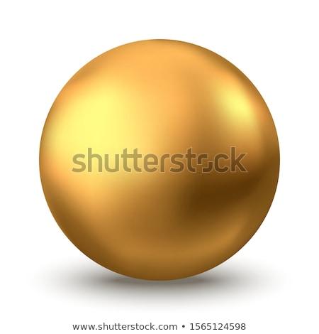 arany · labda · 3d · render · fehér · fitnessz · technológia - stock fotó © montego