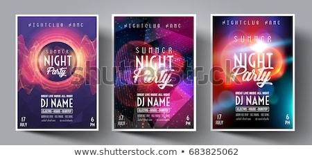 kulüp · disko · uçan · şablon · müzik · elemanları - stok fotoğraf © davidarts