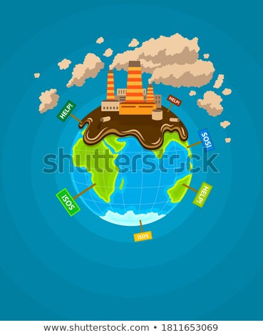 Ecological infographics Earth planet ecocatastrophe Stock photo © LoopAll