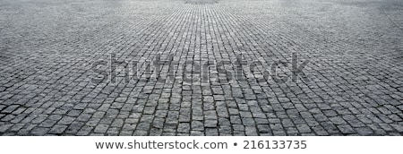 Tradicional tijolo estrada textura cidade abstrato Foto stock © Kuzeytac