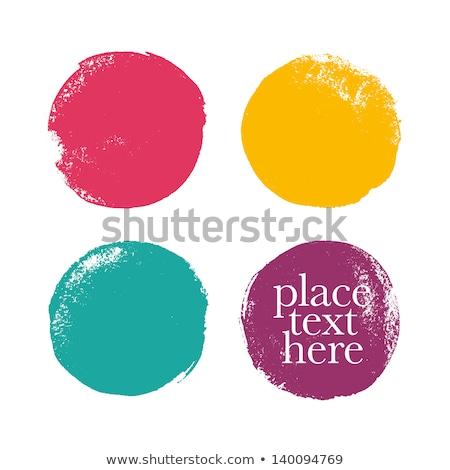 yellow acrylic paint vector circle stock photo © gladiolus
