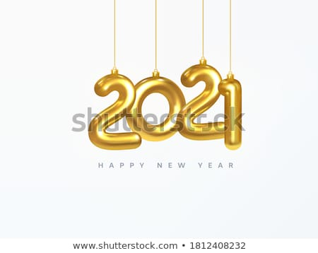 merry christmas and happy new year winter cover vector illustration stock photo © carodi