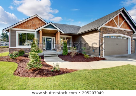 Stock fotó: American House Exterior With Curb Appeal