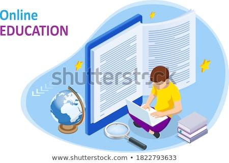 teia · treinamento · conhecimento · rede · vetor · papel - foto stock © robuart