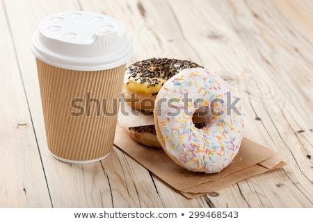 Бублики Кубок кофе свежие горячей Сток-фото © brittenham