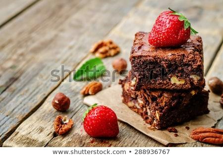 свежие · шоколадом · торт · пластина - Сток-фото © kayco