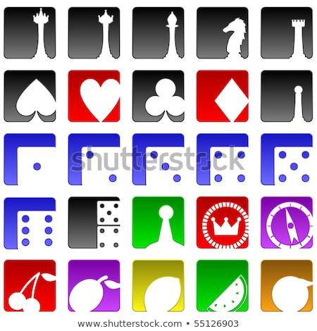 Diamond chess pawn card with crown, vector illustration  Stock photo © carodi
