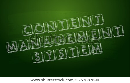 content management system over green blackboard Stock photo © marinini