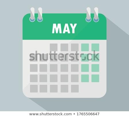 May Calendar Blank Page Stock photo © stevanovicigor