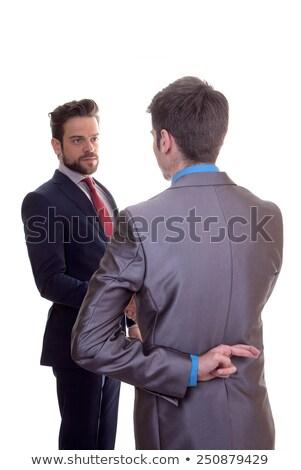 человека · бизнеса · костюм · пальцы · бизнесмен - Сток-фото © godfer