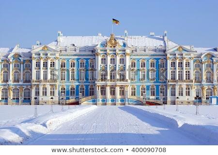Tél tájkép palota város Oroszország kilátás Stock fotó © Pilgrimego