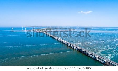 Delta holandês rio forma alto Foto stock © compuinfoto