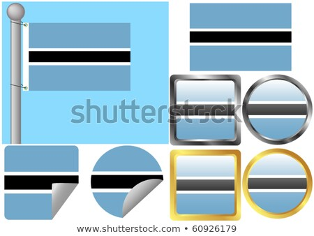 square sticker with flag of botswana stock photo © mikhailmishchenko