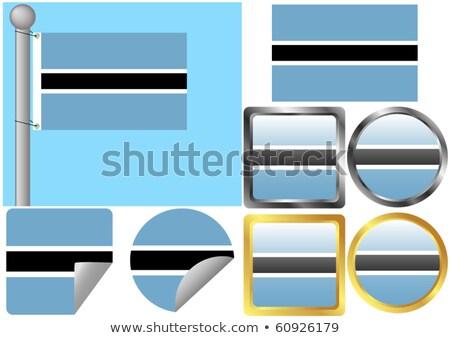 Square sticker with flag of botswana Stock photo © MikhailMishchenko