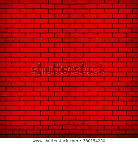 Czerwony murem hałasu tekstury cegły bezszwowy Zdjęcia stock © m_pavlov