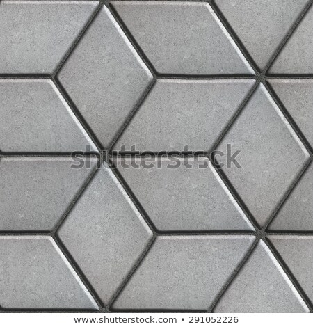 Gray Paving Slabs Laid Flower of Rhombuses. Stock photo © tashatuvango
