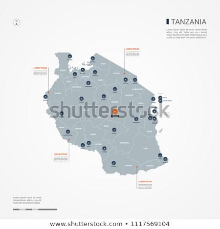 Orange Taste Bild Karten Tansania Form Stock foto © mayboro