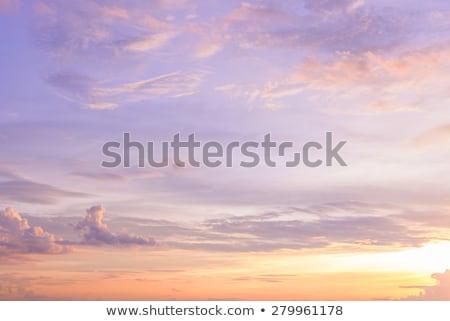 Rosa laranja nuvens nascer do sol pôr do sol Foto stock © Balefire9
