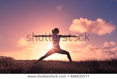 benessere · donna · zen · yoga · meditazione · spiaggia - foto d'archivio © gabor_galovtsik