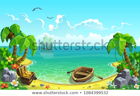 Treasure island illustration Stock photo © ylivdesign